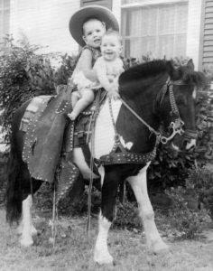 My first pony ride